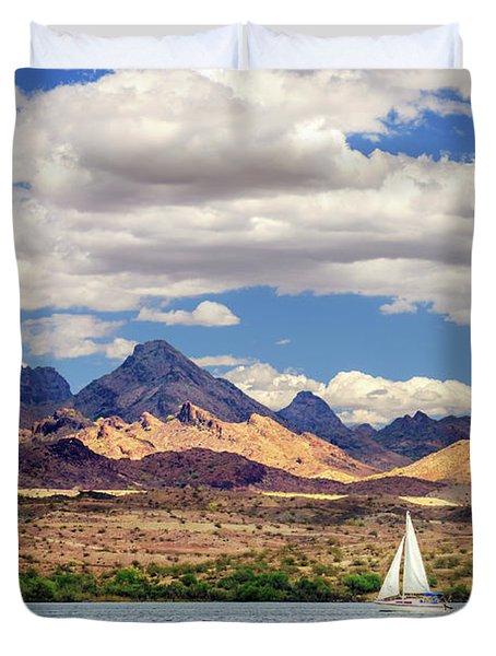Sailing In Havasu Duvet Cover