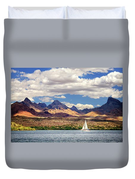 Sailing In Havasu Duvet Cover