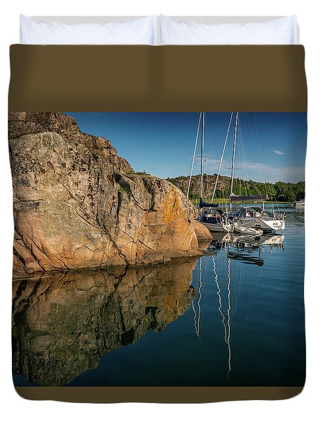 Sailing In Sweden Duvet Cover by Martina Thompson