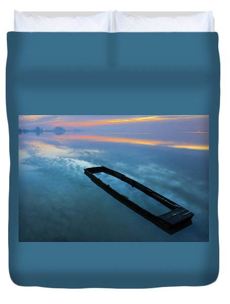 Duvet Cover featuring the photograph Sailing In The Sky by Davor Zerjav