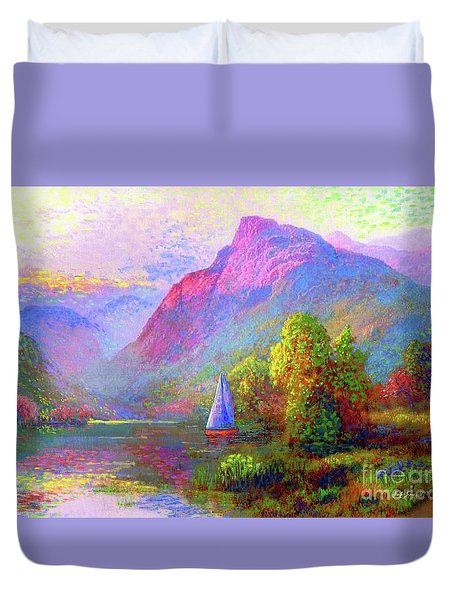 Sailing Into A Quiet Haven Duvet Cover