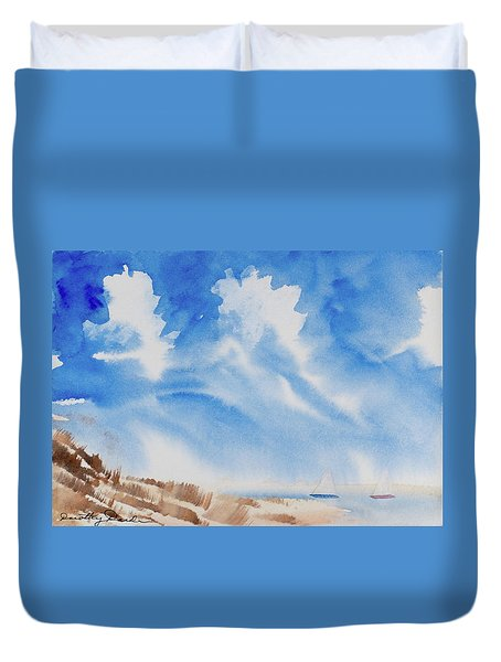 Fine Coastal Cruising Duvet Cover
