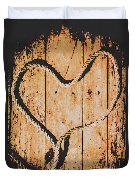 Sailing Love With No Strings Attached Duvet Cover