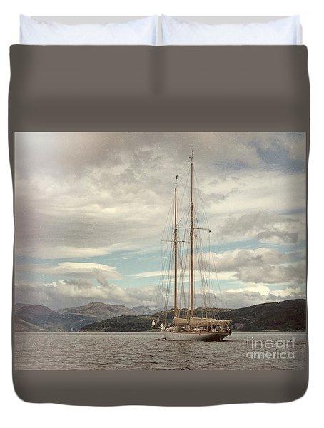 Sailing On Loch Long Scotland Duvet Cover