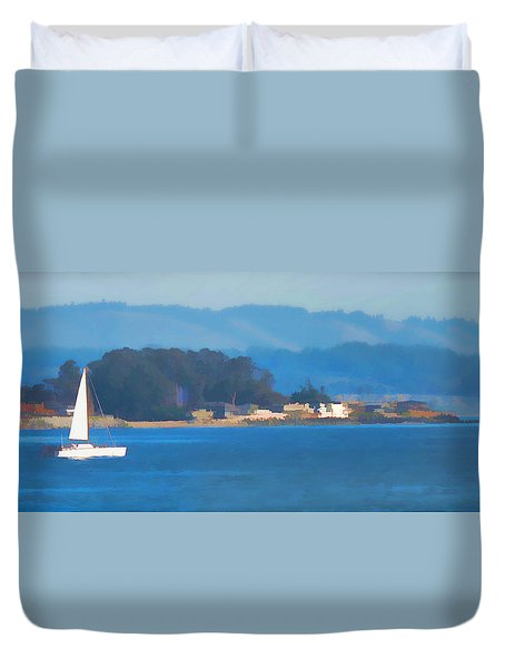 Sailing On The Monterey Bay Duvet Cover
