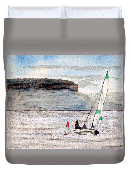 Sailing On Thunder Bay Duvet Cover by R Kyllo