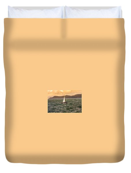 Sailing Outer Hebrides Duvet Cover