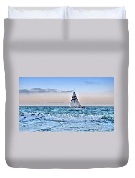Sailing Santa Cruz Duvet Cover