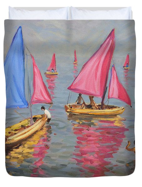 Sailing School Duvet Cover