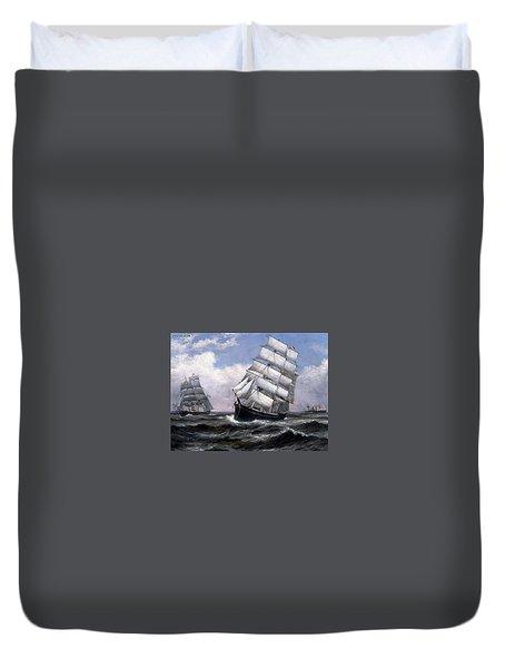 Sailing Ship Duvet Cover