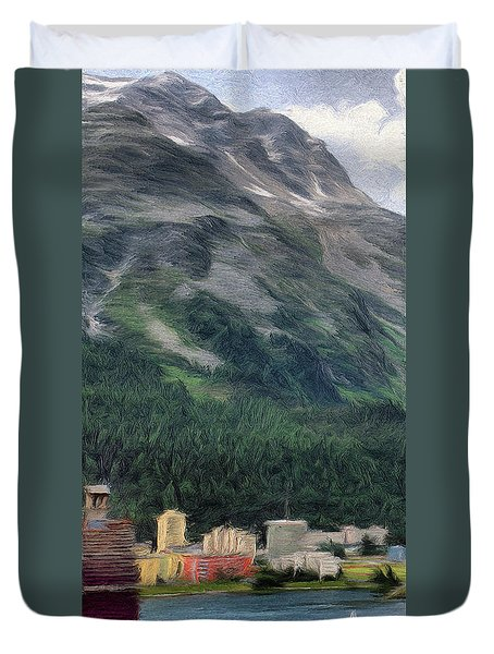 Sailing St Moritz Duvet Cover by Jeff Kolker