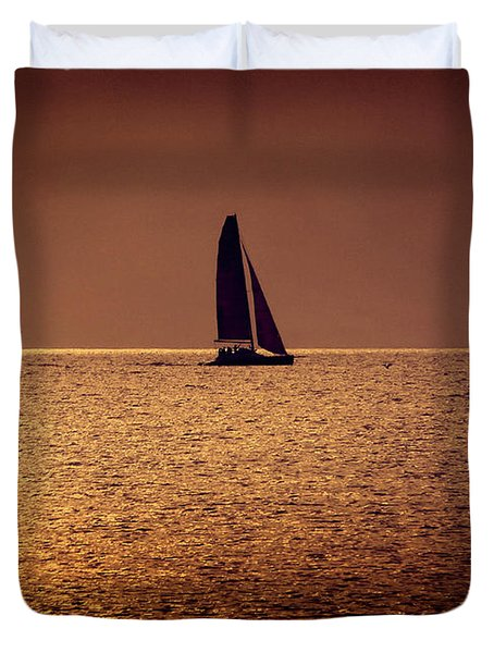 Sailing Duvet Cover by Steven Sparks