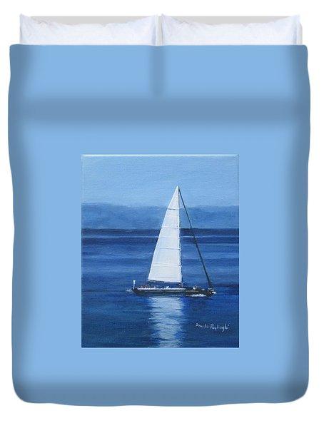 Sailing The Blues Duvet Cover