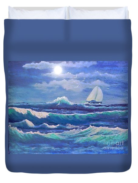 Sailing The Caribbean Duvet Cover