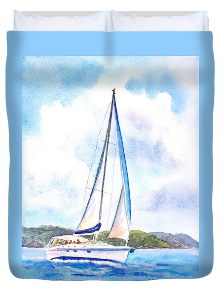 Sailing The Islands 2 Duvet Cover