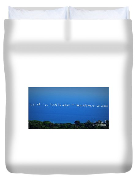 Sailing The Sea And Sky Duvet Cover