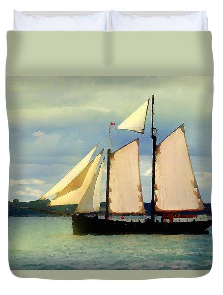 Sailing The Sunny Sea Duvet Cover