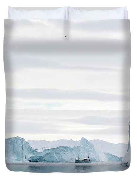 Sailing Through  The Icefjord Duvet Cover