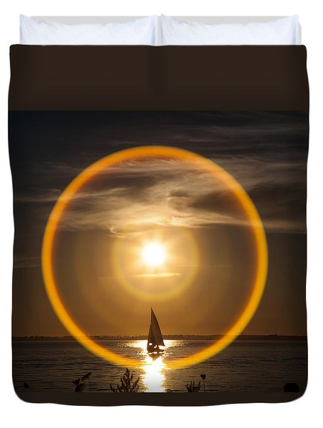 Sailing Through The Iris Duvet Cover