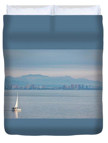 Sailing To Shore Duvet Cover