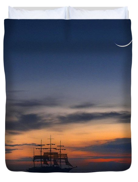 Sailing To The Moon 2 Duvet Cover by Mike McGlothlen