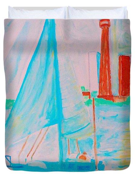 Sailing Toronto, Canada Duvet Cover