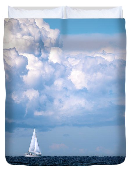 Sailing Under The Clouds Duvet Cover