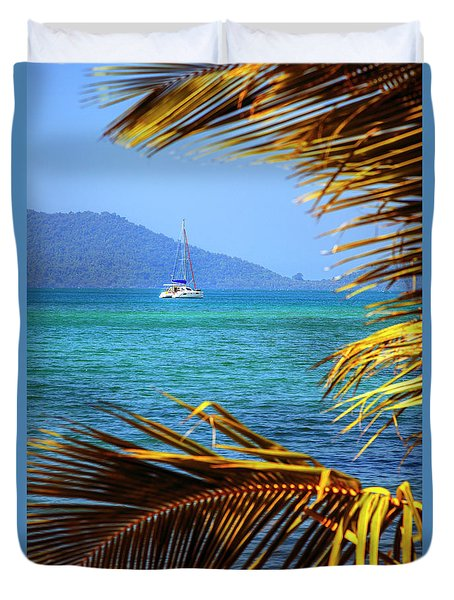 Duvet Cover featuring the photograph Sailing Vacation by Alexey Stiop