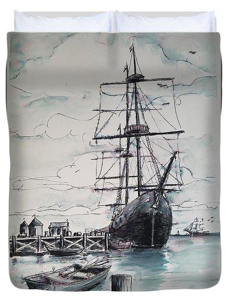 Sailing Vessel Pandora Duvet Cover