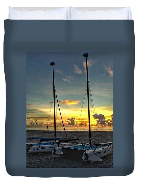 Sailing Vessels  Duvet Cover