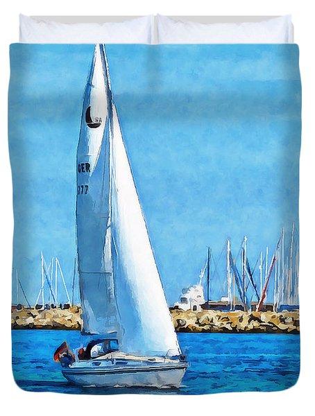 Sailling Ship Duvet Cover