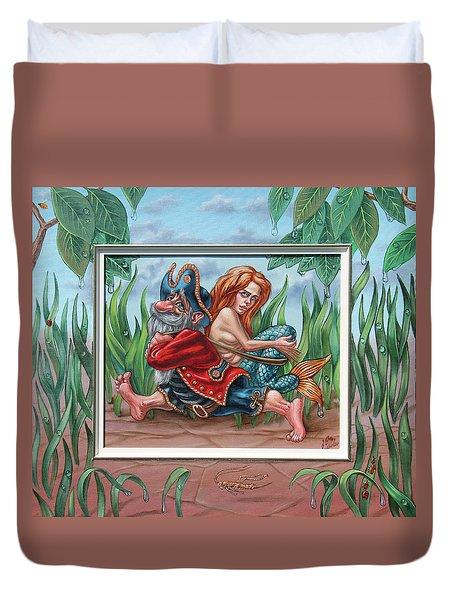 Sailor And Mermaid Duvet Cover