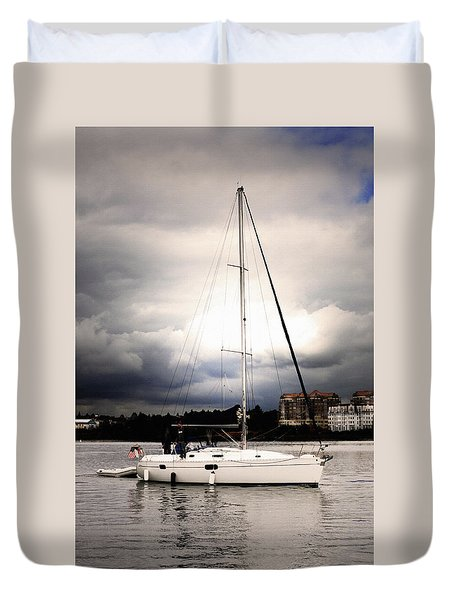 Sailor And Storm Duvet Cover