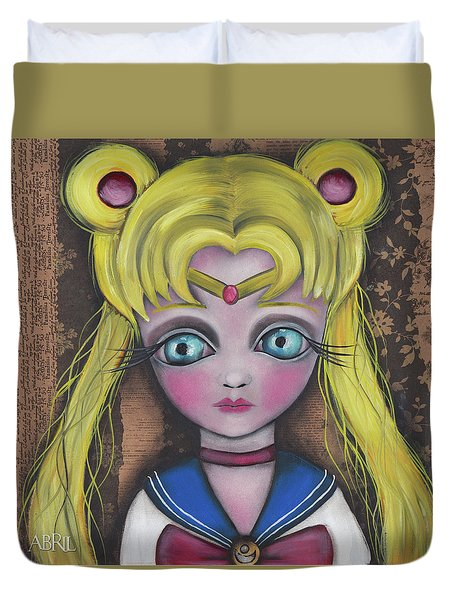 Sailor Moon Duvet Cover by Abril Andrade Griffith
