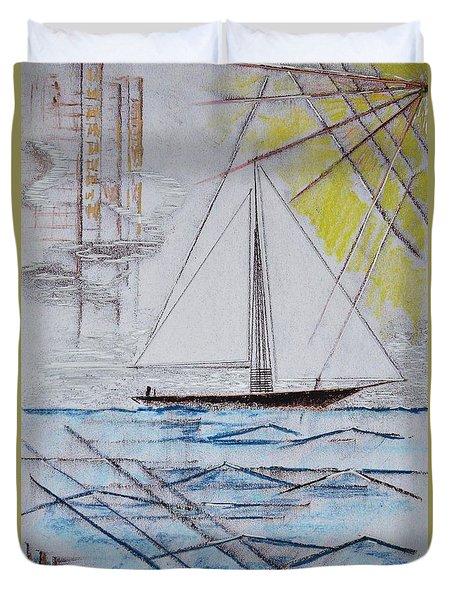 Sailors Delight Duvet Cover by J R Seymour