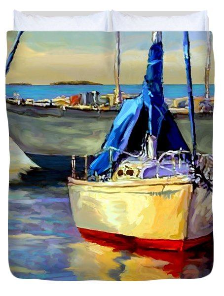 Sails At Rest Duvet Cover