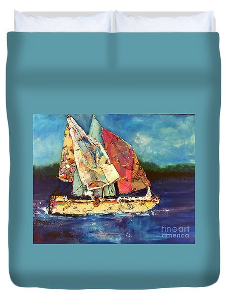 Sails Away Duvet Cover