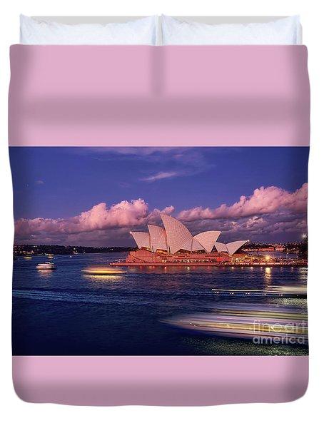 Duvet Cover featuring the photograph Sails In The Clouds By Kaye Menner by Kaye Menner