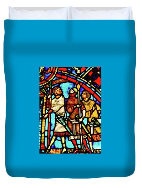 Saint And Sinner Duvet Cover