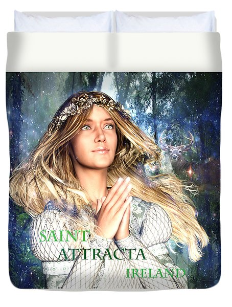Saint Attracta Irish Light Duvet Cover by Suzanne Silvir