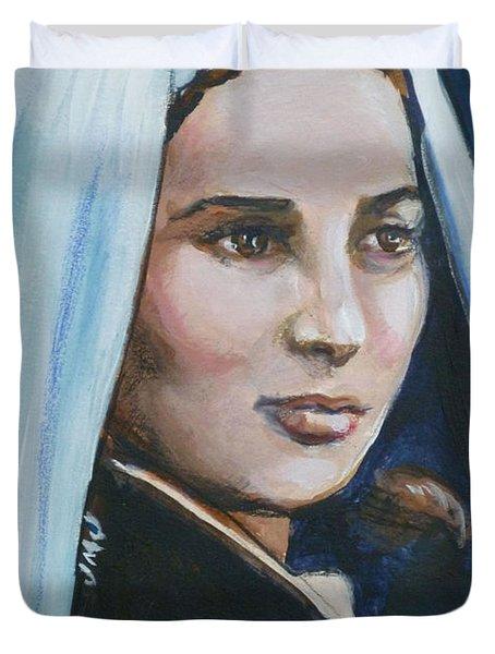 Saint Bernadette Soubirous Duvet Cover by Bryan Bustard