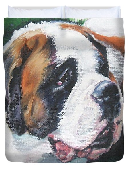 Saint Bernard Duvet Cover by Lee Ann Shepard
