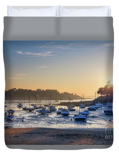 Duvet Cover featuring the photograph Saint Briac by Delphimages Photo Creations