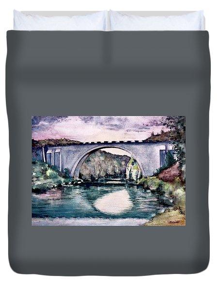 Saint Bridge Duvet Cover by Geni Gorani
