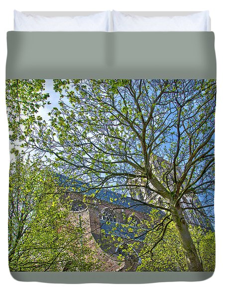 Saint Catharine's Church In Brielle Duvet Cover