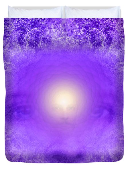 Saint Germain And The Violet Flame Duvet Cover