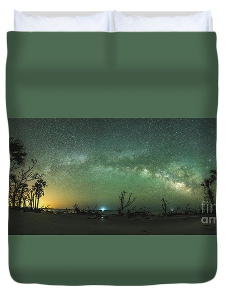 Saint Helena Island Milky Way Duvet Cover