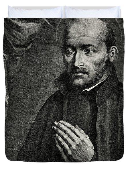 Saint Ignatius Of Loyola Duvet Cover