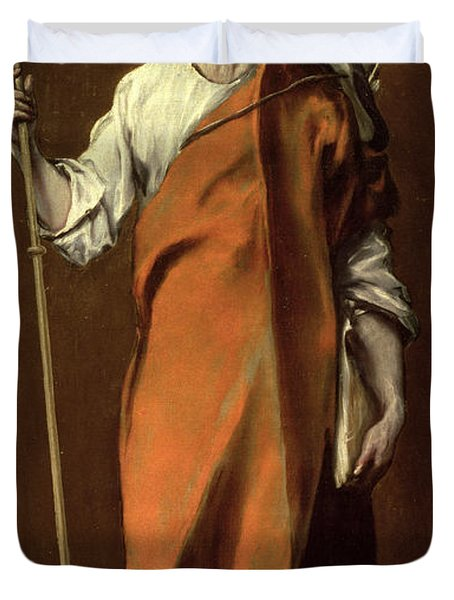Saint James The Greater Duvet Cover by El Greco