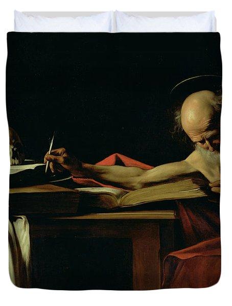 Saint Jerome Writing Duvet Cover